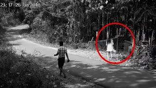 Real Ghost Walking On Road Caught On Camera!!