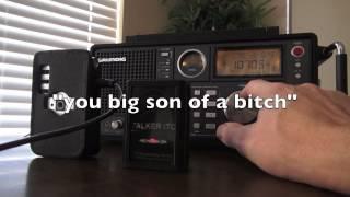 "Manual Tune Spirit Box - Grundig 750 - ""You Big Son of a Bitch""! The Dead talk again, frank's box."