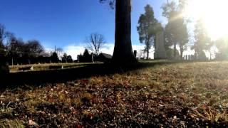Time lapse Cemetery in Monocacy, Montgomery County. Maryland