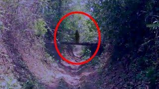 A Black Shadow Passing Caught On Camera In An Abandoned Place!!