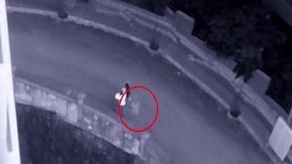 Cámara de seguridad capta un fantasma persiguiendo a una pareja