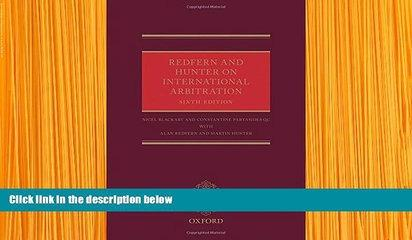 READ book Redfern and Hunter on International Arbitration Nigel Blackaby Full Book