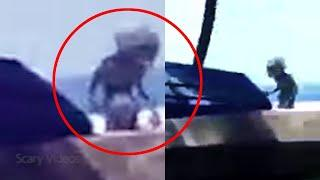 Ghost or Alien!! Strange Object Caught on Camera From an Abandoned Place
