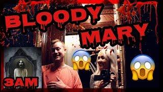 DO NOT PLAY BLOODY MARY AT 3AM INSIDE A HAUNTED ELEVATOR IN A HAUNTED HOTEL!