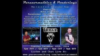 Paranormalities & Ponderings Radio Show featuring Mike St Clair - Paranormal Christmas Shopping!