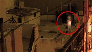 Real Child Ghost Caught From An Apartment Balcony!! Paranormal Mystery Caught On Tape!!