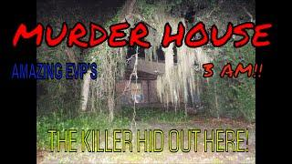 3 AM AT ABANDONED AND HAUNTED HOME WHERE MURDERER WAS HIDING OUT!