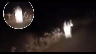 Ghost Figure Caught on Camera Through a Rear View Mirror !! Scary Videos