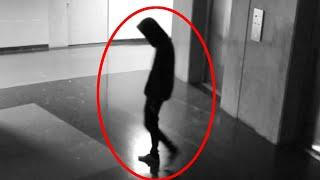 A Huge Black Ghost Like Creature Caught On CCTV Getting Out Of A Lift!!