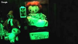 Spirit Encounters creepy cabin in woods unboxing of jessica sister of annabelle
