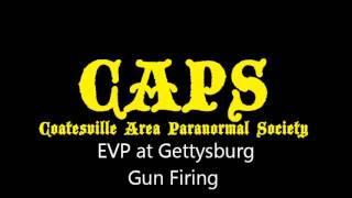 EVP Gun Fire Gettysburg