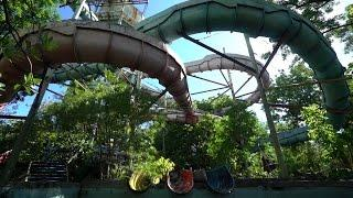 Abandoned Water Park ( Big water slides!! ) Philippines!
