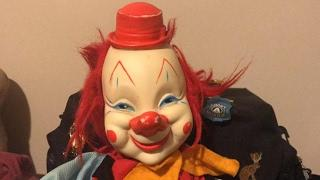 New haunted bozo clown doll creepy ghost orbs and ovilus session pogo zozo 666