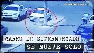 Insólito: Carrito de Supermercado se Mueve Solo (Video Paranormal)