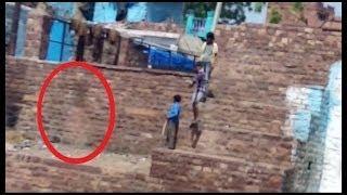 GHOST CAUGHT ON TAPE- Spirit caught near school boys Scary Videos