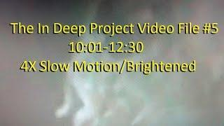 The In Deep project Video File #5: 10:01-12:30 4X Slow Motion/Brightened