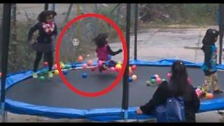 "Ghost Caught On Camera in Children's Park! Little girl ""Pushed over by a ghost"""