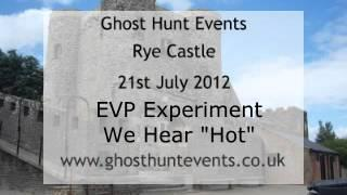 Rye Castle real ghost voice EVP from guests question
