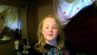 LITTLE ANGEL HUNTER.. AMBERLYNN SINGS CUP SONG...
