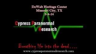DeWalt Heritage Center Investigation