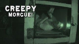 Paranormal Investigator ALONE In CREEPY Morgue Video! DE #90