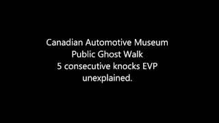 5 consecutive knocks EVP