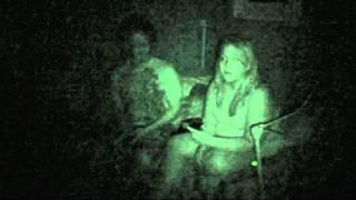Ghost Video #11 Villisca Parlor Bedroom -Orb during PX session bottom right -