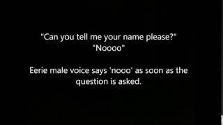AUDIO -  Investigator ask for a name an eerie male voice replies-No.