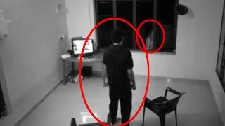 Mysterious Ghost Shadow Behind Window Caught On Camera!!
