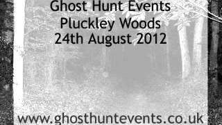 Pluckley Woods, Kent real ghost voice EVP