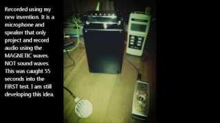 CLASS A EVP caught during magnetic recording mic/amp TEST.