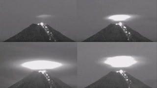 Massive Light UFO Ignites Colima Volcano To Recharge Its Power Again