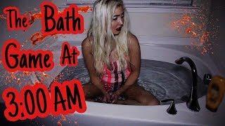 THE BATH GAME AT 3 AM!! DARUMA-SAN CHALLENGE!