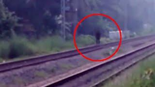 Mysterious Ghost Walking Over The Rail Caught On Camera!!