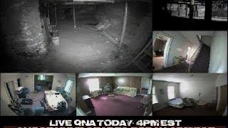 Haunted Warren House LIVE Ghost Hunt Paranormal Static Cams Day 3