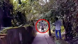 Creepy & Paranormal Ghost Encounter Caught On Mobile Camera From A Skid Road!! Real Haunted Spirit!!