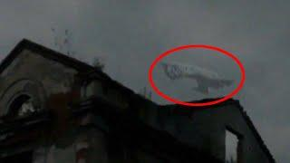 Most Insane Real Ufo Caught On Tape Over Haunted Building!! Flying Saucer Alien Abduction!!