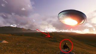Real UFO With Aliens Caught On Camera!! UFO Footage Compilation