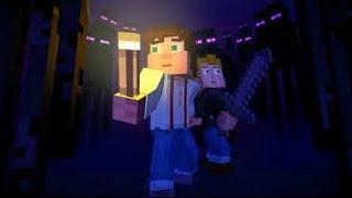 Getting close with Endermen.../Minecraft story mode ep3 part 1
