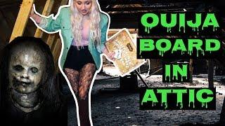 Haunted OUIJA BOARD session in attic with possessed doll
