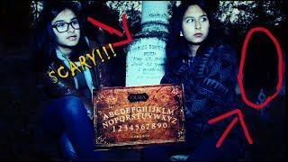 OUIJA BOARD in HAUNTED CEMETERY!!! Pioneer Cemetery Part 2: Contacted GHOST!!!