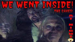 WE WENT INSIDE THE DARK SCARY CAVE! {AT NIGHT}!!!