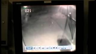 Ghost caught on tape by security Camera