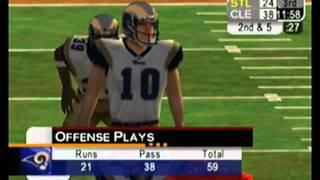 Nfl 2K5 PS2 Season Mode Cleveland Browns Vs St. Louis Rams (full Game)