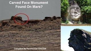 Carved Face Monument Found On Mars?