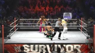 Diva's championship match ( stratus vs lita vs bella twins vs eve vs beth Phoenix