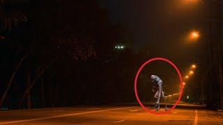 Real Weird Creature Caught On Tape At Night!! GHOSTS!!