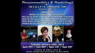 Paranormalities & Ponderings Radio Show featuring guests Anita Intenzo & Chris Levis!