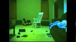 Haunted room!  Ghost rocking chair caught on camera