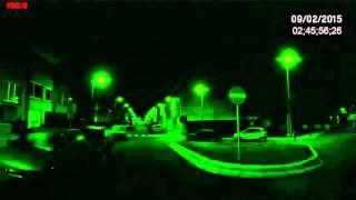 Fantasma captado por camara de vision nocturna en carretera embrujada